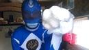 POWER RANGER BLUE VS DOG BAKSIK. FUNNY VIDEO. СИНИЙ ПАУЭР РЕЙНДЖЕР ПРОТИВ СОБАКИ БАКСИКА