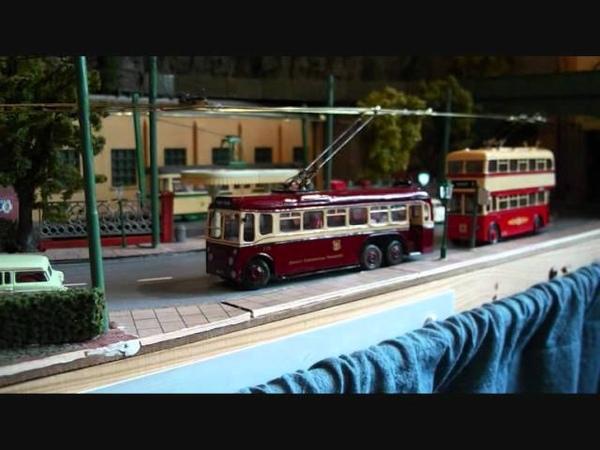 Porton trolleybus line up 2012 for Manchester, Cardiff, Rhondda and Pontypridd.wmv