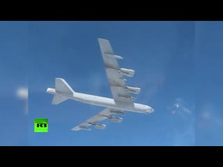 Су-27 сопроводил американский бомбардировщик B-52