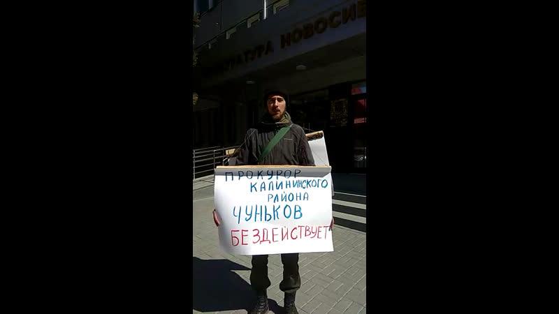 Новосибирец пикетировал прокуратуру области