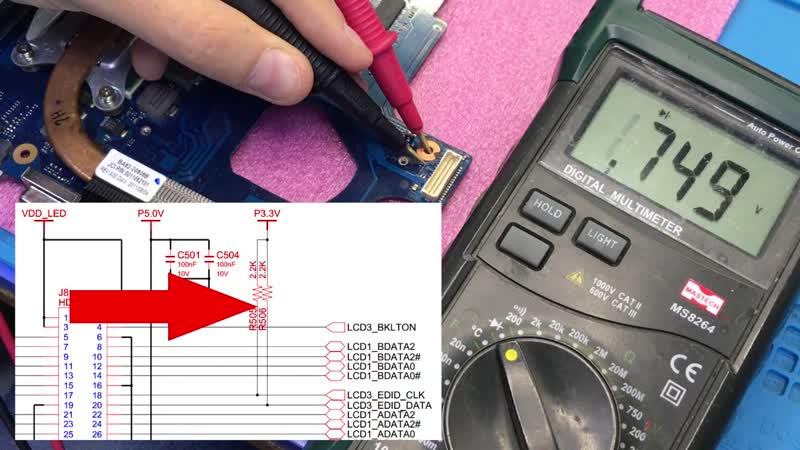 Notebook 31 Интересный ремонт ноутбука Samsung NP300V5A. Нет изображения на матрицу. Устраняем межслойный обрыв.