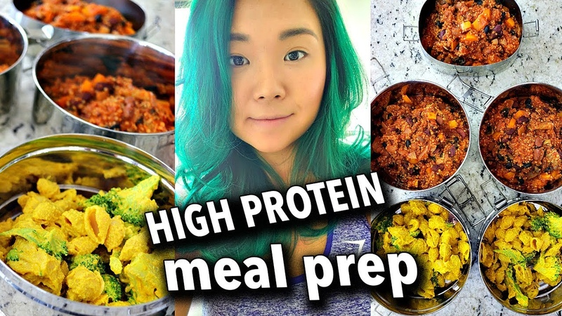 ONE HOUR VEGAN MEAL PREP / HIGH PROTEIN Vegan Mac Cheese, Bean Quinoa Chili