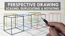 PERSPECTIVE DRAWING Techniques You NEED to KNOW - Grids, Scaling, Duplicating Rotating
