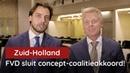 FVD sluit concept-coalitieakkoord in Zuid-Holland - YouTube