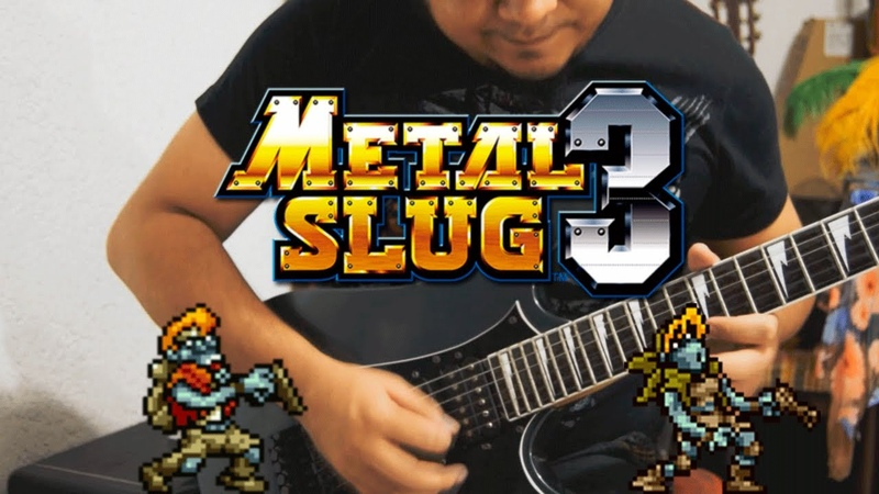 Metal Slug 3 - Midnight Wandering Guitar cover (Zombies level) with Sounds FX