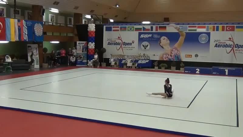 20th Slovak Aerobic Open. AG1 IW. Rogovei Victoria (MDA)