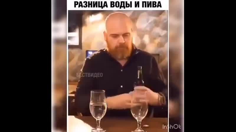разница пива и воды