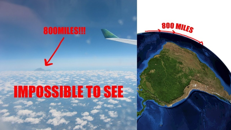 YOU WON'T BELIEVE THIS, ZERO CURVATURE FROM 800 MILES