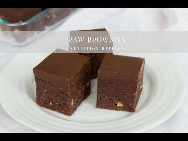 Raw Brownies Vegan Paleo