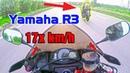 R3 kẹp đôi đóng 17x dằn mặt Cbr600 Z1000 Yamaha R3 vs Cbr600 Z1000