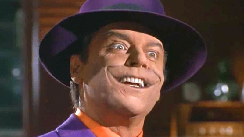 Горячее рукопожатие Джокера Джек Николсон в роли Джокера Бэтмен 1989