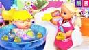 КАТЯ КАК МАМА БОЛЬШОГО ПУПСИКА БЕБИ БОРН, Katya pretend play with Dolls and Toys for Girls