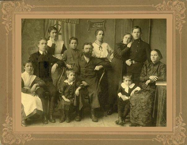 Русские семьи 100 лет назад