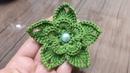 3D tığ işi örgü çiçek nasıl yapılır / örgü çiçek modelleri