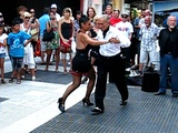 Tango Dancing on the street, Buenos Aires Argentina Feb 2012