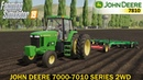 Farming Simulator 19 - JOHN DEERE 7000-7010 SERIES 2WD with Double Cultivator