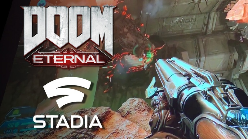 Doom Eternal Gameplay Running On Google Stadia