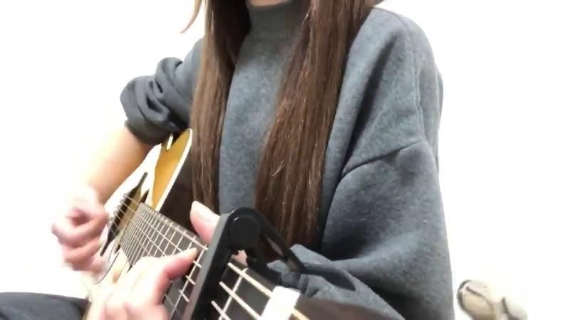 美波 Minami Kawaki wo ameku acoustic ver She's not me Video from her Twitter @osakana373