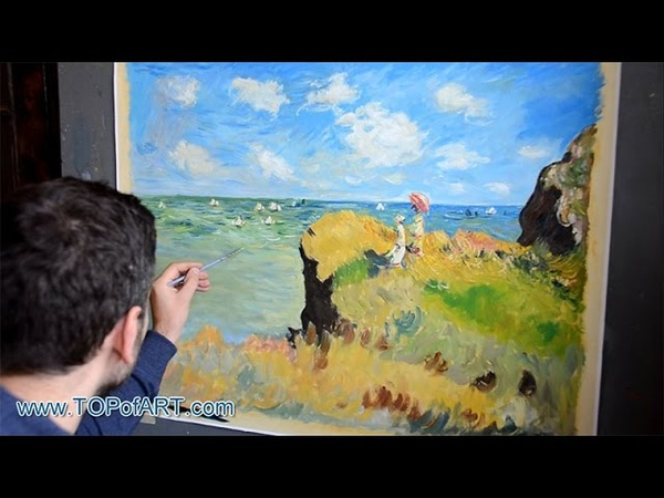 Monet - Cliff Walk at Pourville | Art Reproduction Oil Painting