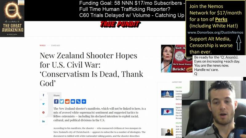 Anti Conservative Murder Spree in NZ, Used to Censor QAnon