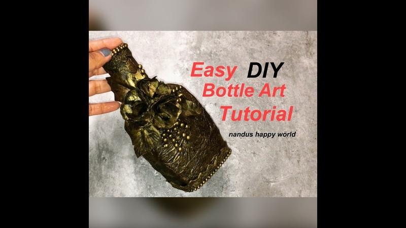 Bottle Decorating ideas | Bottle Art | Bottle Craft | Bottle decoration | Glass bottle art ideas