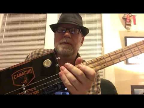 3 String Bass Cigar Box Guitar by Bluesboy Jag