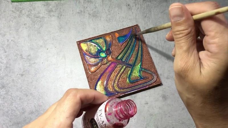 Роспись плитки Каф декоръ красками Pi Ni. Совместный проект Евгении Ансари и Handmadedecor
