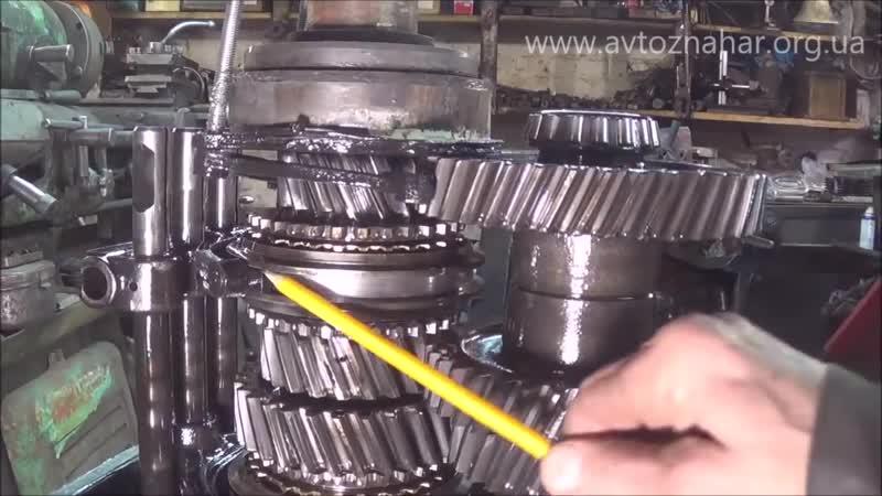 Ремонт КПП Газ-3309 - Разборка и сборка вторичного вала