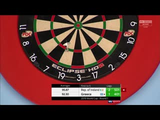 Ireland vs Greece (PDC World Cup of Darts 2019 / Round 1)