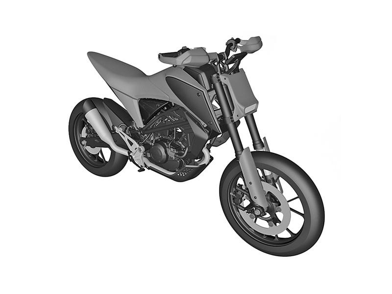 Компания Honda патентует CB125X и CB125M