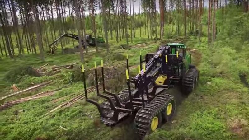 Форвардеры и харвестеры John Deere G Series - новое видео