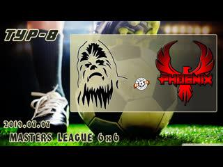 Чубакка v/s феникс. football masters league 6x6. full hd. 2019.07.07