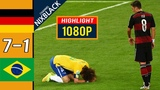 Germany 7-1 Brazil 2014 World Cup Semi Finals All goals &amp Highlights FHD1080P