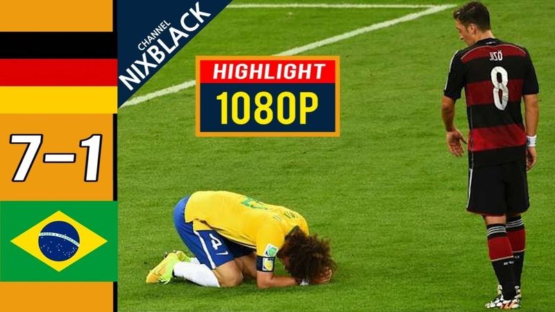 Germany 7-1 Brazil 2014 World Cup Semi Finals All goals Highlights FHD/1080P