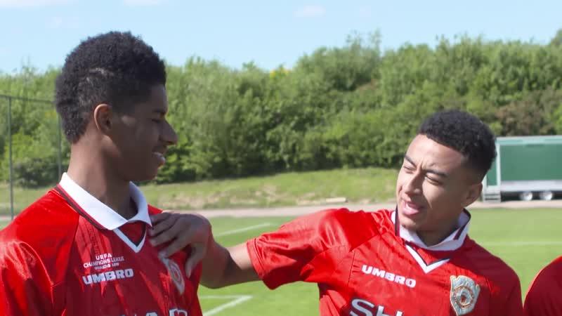 Jesse Lingard and Marcus Rashford recreate Ole Gunnar Solskjærs Champions League winning goal