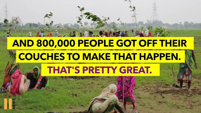 India Plants 50 Million Trees in One Day, Smashing World Record