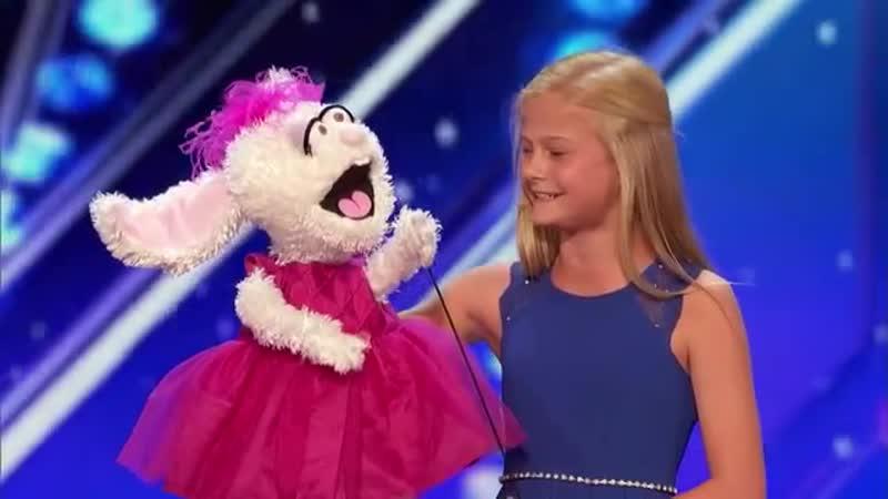 Darci Lynne 12 Year Old Singing Ventriloquist Gets Golden Buzzer America's