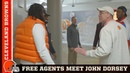 Free Agents meet John Dorsey during facility tour | Cleveland Browns