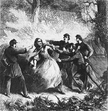 ДЖЕФФЕРСОН ДЭВИС И РАЗЛИЧНЫЕ ОБСТОЯТЕЛЬСТВА ИЛИ ИСТОРИЮ ПИШУТ ПОБЕДИТЕЛИ Утром 10 мая 1865 года один из унтер-офицеров-унионистов, стоявший в оцеплении около разгромленного лагеря бегущих южан
