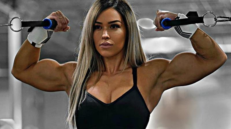 Cassandra Martin Workout Muscle Beauty Training Hard