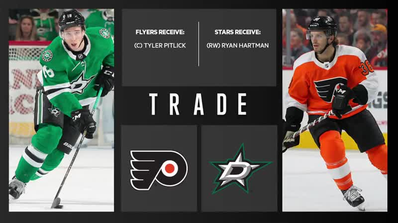 BREAKING We've acquired Tyler Pitlick from Dallas in exchange for Ryan Hartman. - - Details