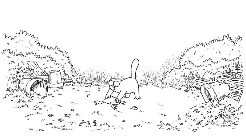 Мультфильм Кот Саймона 21 серия — Гадкий жабёнок