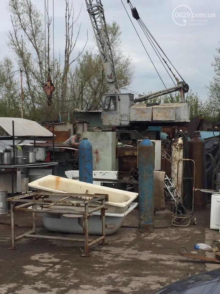 В Мариуполе прикрыли нелегальный пункт приема металла: фото