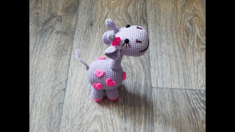Игрушка амигуруми. Жирафик Элька крючком (crochet giraffe)