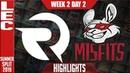 OG vs MSF Highlights | LEC Mùa hè 2019 | Origen vs Misfits Gaming Highlights | LEC Summer 2019