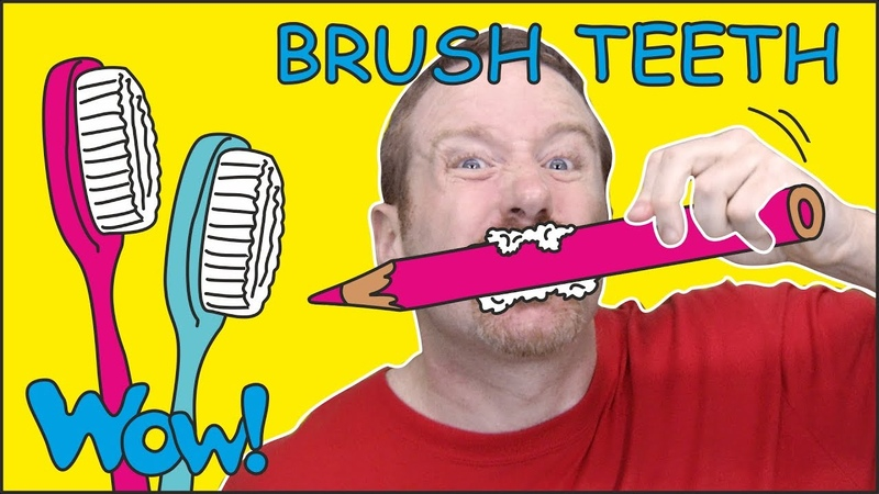 Brush your Teeth Song Story for Kids from Steve and Maggie NEW Free Speaking Wow English TV