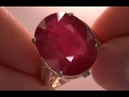 Authentic MASSIVE Ruby Diamond Ring from Newport Beach Collection