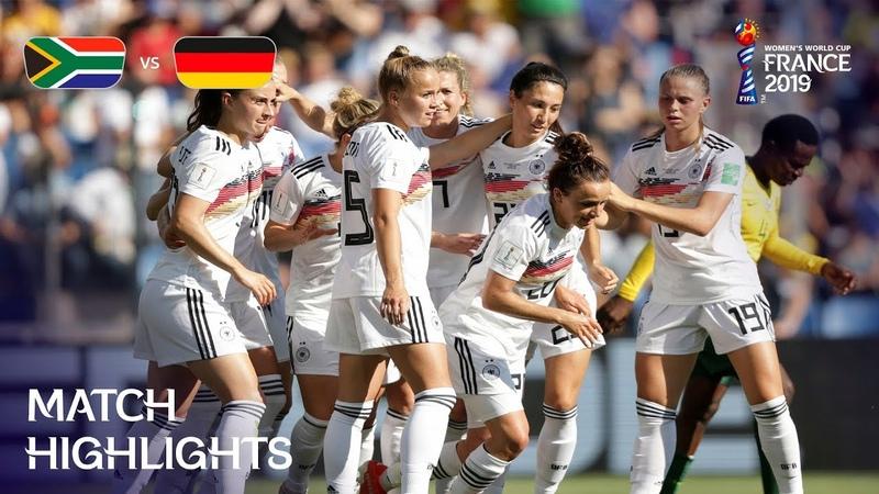 Южная Африка—Германия (женский ЧМ-19 во Франции лучшие моменты)