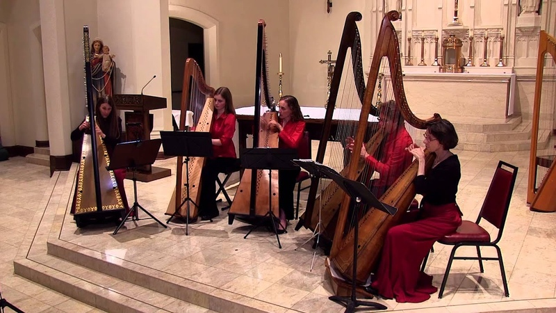 March of the Men of Harlech, performed by the Red Dragon Harp Ensemble