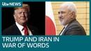 2382 Donald Trump told never threaten an Iranian after warning Tehran ITV News - YouTube